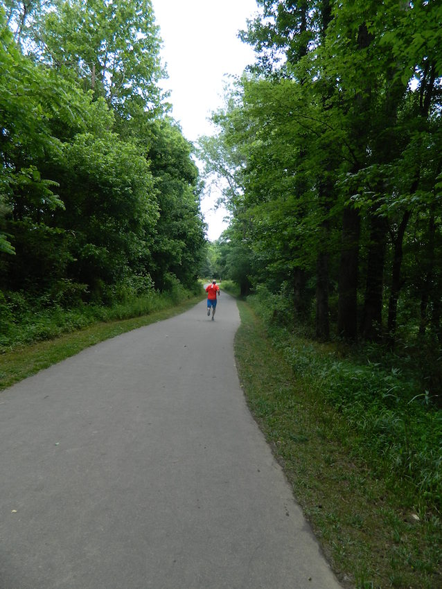 Jogger auf dem four-mile-creek-Greenway